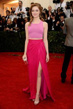 Emma Stone Met Ball 2014 Pink Look