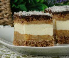 Orzechowiec z musem jabłkowym i kremem śmietanowym Apple Cake, Tiramisu, Food And Drink, Cappuccinos, Ethnic Recipes, Desserts, Baking, Tailgate Desserts, Deserts