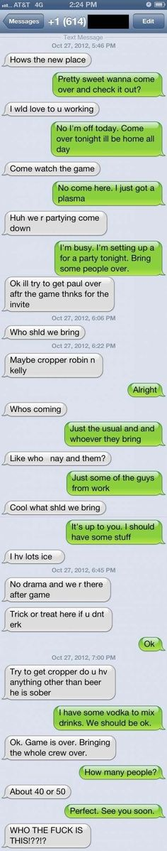 The PARTY AT MY HOUSE Approach: | The 23 Best Ways To Handle A Text From The Wrong Number