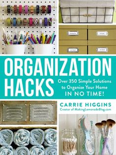 Organisation Hacks, Organizing Hacks, Organizing Your Home, Hacks Diy, Home Hacks, Diy Organization, Diy Storage, Craft Room Organizing, Organization Ideas For The Home