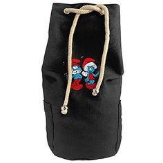 Cool Papa Smurf And Mama Smurf Merry Christmas Drawstrings Gym Backpack Bag * You can get additional details at the image link. #GymBags