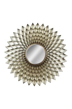 Accordion Pleated Tarnished Brass Mirror on @HauteLook