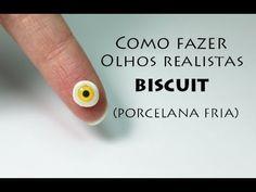 Tutorial olhos de biscuit vitrificado, olhos realistas biscuit, cold porcelain eyes, fimo eyes, clay eyes, diy olhos, porcelana fria ojos
