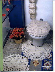 De crochet---bathroom toilet cover,rugs