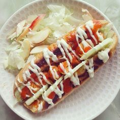 Repost a new photo taken by ai_aigasa! This is #sausage #lettuce #chilisause #mayonnaise on a hotdog #bunヾ()ノ #instadaily #instafood #instapic #mayo #hotsauce #hotdog #instakawai #instaglam #instafun #foodporn #foodstagram #foodgasm #food #yummy #hungry #eat #bread #feedyourcamera #happy #girlstalk #foodstagram #igersjapan #igersjp #レタス #ランチ #ソーセージ http://bit.ly/1RsGVzL #searchinstagram #instagramsearch http://goo.gl/bH29do - http://on.fb.me/20qF2JG #hash4tag
