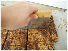 homemade granola bars - Cut into long bars by Andrea Dekker, via Flickr
