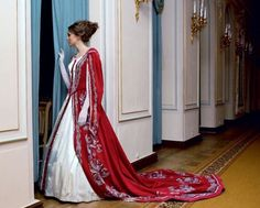 Russian Court dress. Modern work according to the fashion of the 19th century. #history #Russian #court #dress