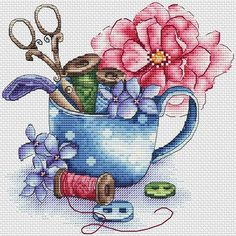 Cross Stitch Thread, Cross Stitch Rose, Cross Stitch Flowers, Cross Stitching, Cross Stitch Embroidery, Modern Cross Stitch Patterns, Cross Stitch Designs, Monogram Cross Stitch, Cross Stitch Collection