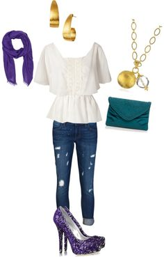 """Disney inspired outfits: Esmeralda (hunch back of notre dame)"" by melissa-rose-723 on Polyvore"