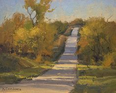 Color Along Hoch Road by Kim Casebeer Oil ~ 8 x 10