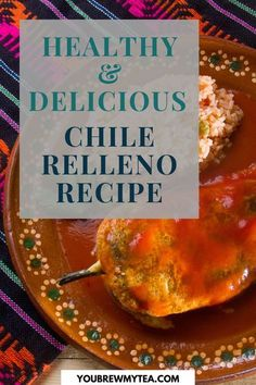 If you want to learn now to make a delicious Chile relleno, this post by You Brew My Tea is for you. Mexican dishes can be easy to make at home, let alone healthy and appropriate for the whole More Best Soup Recipes, Chili Recipes, Mexican Food Recipes, Healthy Recipes, Rellenos Recipe, Chile Relleno, Stuffed Poblano Peppers, Best Food Ever, Sugar Free Recipes