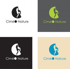 Designs by Aurelie - Logo for an adventure sport company (canyoning, via ferrata, climbing, paragliding)