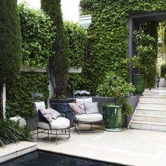 Courtyard inspiration, garden, terrace, furniture, design inspiration www.abodeaustralia.com