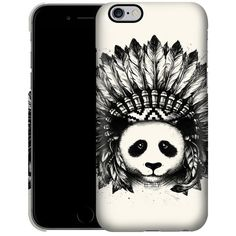 Caseable Panda ($23) ❤ liked on Polyvore featuring accessories, tech accessories, phone case and multi