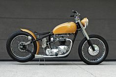 1967 Triumph Bonneville Custom that started life as a T120R, the US export model with higher handlebars and a more compact fuel tank.