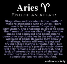 Aries once they are done, they truly are done. Poses true in all relations.