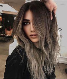 Brown Hair Fade, Ash Brown Hair Balayage, Balyage Long Hair, Cool Brown Hair, Ash Brown Hair Color, Brown Hair With Highlights, Hair Color Balayage, Haircolor, Mushroom Hair