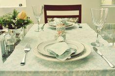 Mesa a dois. Mesa romântica. Love. table. Amor. Delicadeza. Blue. Salmon. Macarron. Contraste. Provençal.