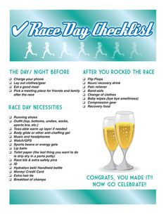 Checklist for race day