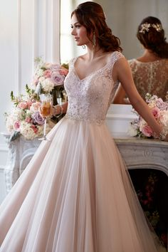 Stella York designer wedding dress.