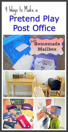 4 Ways to Make Your Own Pretend Play Post Office~ Great way to encourage writing!