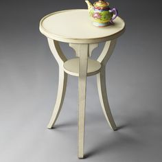 Butler Round Accent Table 24H in. - Cottage White - 1328222
