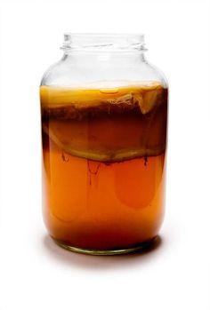 Bakteri ve mayalardan oluşan çayın önemli içeriği Kombucha denilen çay mantarıdır. Doğu Asya'da ortaya çıkmış, Almanya'ya 19.yüzyılın başlarında Rusya üzerinden ulaşmıştır. Mantar, düz bir diske benzer, jelatine benzer bir zardan oluşur. Kombucha mantarı çay ve şekerden oluşan besleyici bir solüsyonun içinde yaşar ve bu sıvı içinde sürekli olarak ürer. Mantarımsı tabaka çayın bütün yüzeyine yayılır ve daha sonra kalınlaşır. Mantar sürekli üreme eğilimi gösterir.