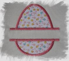 Easter Egg Split Applique Machine Embroidery Design for 4x4 and 5x7 Hoops