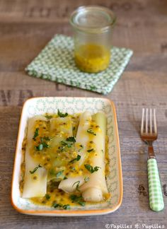 Recette : Poireaux - Vinaigrette aux fruits de la passion / Recipe : Leeks with passion fruits vinaigrette