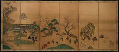 Royal Visit to Ôhara, from The Tale of the Heike  Studio of Tawaraya Sôtatsu