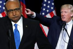 When pressed to respond to the powerful speech by Khizr Khan at the DNC, he chose to go after the dead soldier's mother and claim his empire…