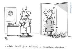 Pavel Kantorek - Podle testů jste náchylný k parazitním chorobám Humor, Peanuts Comics, Funny, Art, Art Background, Humour, Kunst, Funny Photos, Funny Parenting