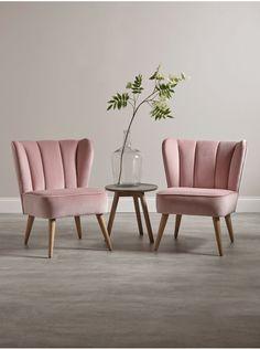 Westbury Velvet Chair - Blush - Luxury Chairs - Luxury Seating - Luxury Home Furniture