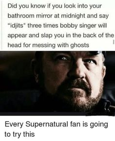 "14 'Supernatural' Memes That Only The Superfans Will Get - Funny memes that ""GET IT"" and want you to too. Get the latest funniest memes and keep up what is going on in the meme-o-sphere. Supernatural Imagines, Funny Supernatural Memes, Supernatural Bloopers, Supernatural Tattoo, Supernatural Wallpaper, Supernatural Funny, Funny Memes, Hilarious, Bobby Singer Supernatural"