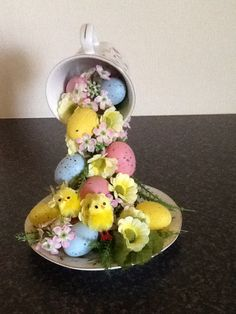 Easter cup and saucer