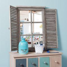 Miroir en bois H 71 cm CONSTANCE