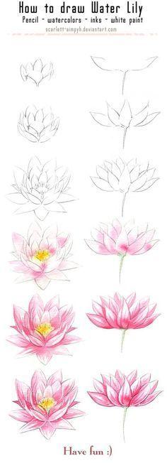 20 Delicate Colorful Watercolor Flowers Painting Tutorials In Images 20 zarte bunte Aquarell Blumen malen Tutorials in Bildern