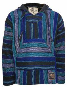 Baja Hoodie Mexican Poncho Pullover - Aqua Blue Gray Black Stripes (Medium) No Bad Days,http://www.amazon.com/dp/B00GQJ44XS/ref=cm_sw_r_pi_dp_xXwIsb14B4GT4RTC