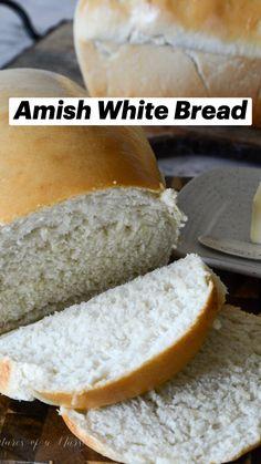 White Bread Machine Recipes, Amish Bread Recipes, Banana Bread Recipes, Baking Recipes, Simple White Bread Machine Recipe, White Bread Recipes, Simple Bread Recipe, Amish Sweet Bread Recipe, Best White Bread Recipe