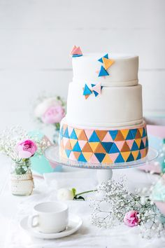 """Свадебный торт в стиле """"Геометрия"""" Geometric wedding cake inspiration"""