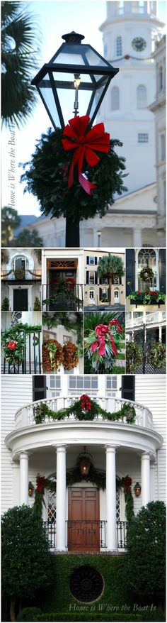 Christmas in The Holy City, Charleston, South Carolina.  12/2012  Home is Where the Boat Is