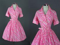 Vintage 50s Elegant Garden Party Dress