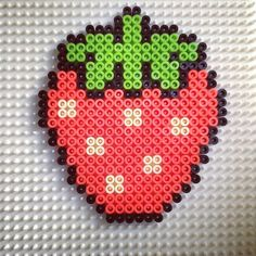 Strawberry perler beads by ineslarcher