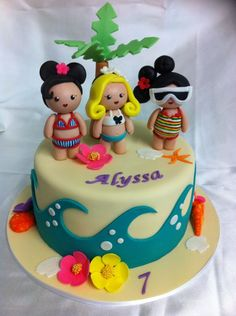 beach girls cake