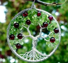 Apple Tree of Life Pendant  Recycled Sterling Silver by ethora, $130.00