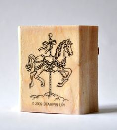 Carousel Horse Rubber Stamp  Carnival Pony by junksy on Etsy