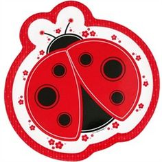 Add a dash of fun to your table with our Modern Ladybug baby shower dinner plates. Printed on sturdy paper in the same vibrant colors of the Modern Ladybug baby shower theme, these plates will look fantastic at each of your party placesettin Mickey Mouse 1st Birthday, 1st Birthday Banners, Baby Ladybug, Ladybug Party, Ladybug Crafts, Alcohol Ink Crafts, Clip Art Pictures, Baby Shower Party Supplies, Cross Paintings