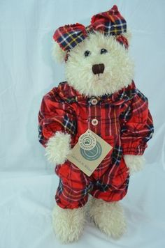 """Brand: Boyds Bears and Friends  Name: Ophelia W Witebred  Collection: J.B. Bean & Associates  Size: 16"""" ---------- Item #: 91207  Original: $40 Value: $55 Issued: 1996 Retired: 1998"""