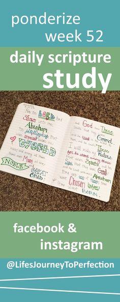 Ponderize Scripture study week 52