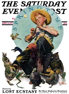 """Giclee Print: """"Springtime, Saturday Evening Post Cover, April by Norman Rockwell : Norman Rockwell Prints, Norman Rockwell Paintings, The Saturdays, Saturday Evening Post, Artist Gallery, American Artists, Spring Time, Illustrators, Sketches"""